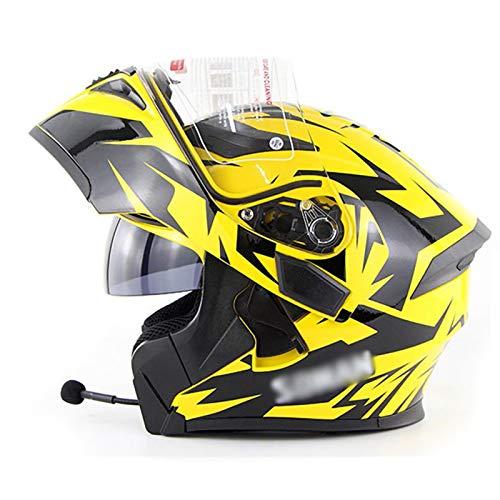 sjapex Casco Modulares con Auricular Bluetooth, Cascos Protector Integrales Flip-up Helmet con...