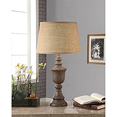 Rustic Wood Finish Table Lamp, Rustic Wood, CFL Bulb Included