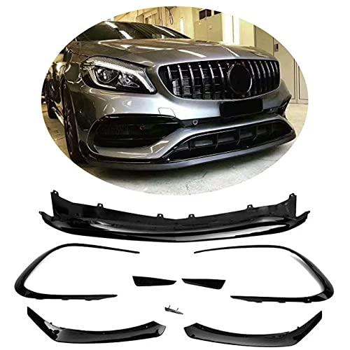 YMSHD Apto para Mercedes para Benz W117 C117 Cla Class Cla220 Cla250 Sport Cla45 Amg Sedan 2016-2019 Abs, Kit de carrocería de alerón de mentón Delantero de Labio Delantero