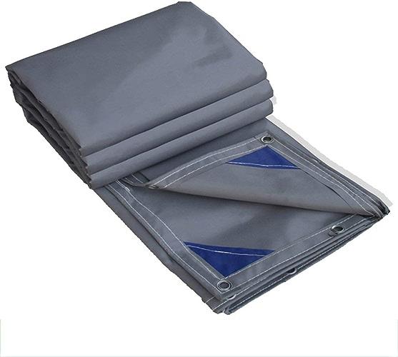 ATR Tissu Enduit de PVC de bache gris, épaisseur 0.6mm 600g   m \u0026 sup2; Toile Pare-Soleil Multifonction Anti-intempéries Anti-intempéries (Couleur  gris, Taille  3  3m)