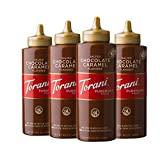 Torani Salted Chocolate Caramel Sauce, 16.5 Ounces, Pack of 4 [Packaging May Vary]