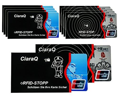 RFID Blocker Funda protectora para tarjetas de crédito, tarjetas bancarias Protege de...