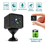 Spy Camera Hidden Camera Mini Small Full HD 1080P Camera, 7-8 Hours Long-time