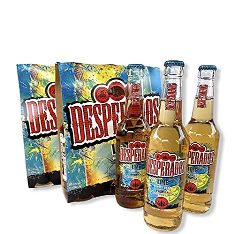 12 Flaschen 400ml Desperados Cactus & Lime auch Geschmachsrichtung Erdbeer im Angbot