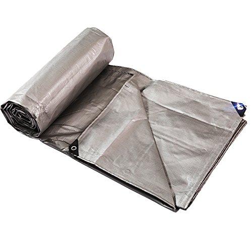LIANGLIANG Bâche De Couverture Plastique Extensible Pliable Anti-vieillissement De Tissu D'ombre De Bâche De Bâche De Pluie De Plein Air, 19 Tailles (Couleur : Silver, taille : 5 * 6M)