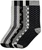 Marca Amazon - find. Calcetines Hombre, Pack de 7, Negro (Grey Black Mix), 39-43.5 EU, Label: 6-9.5 UK