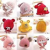Aibccr Sombreros de Moda para bebés de 0-6 años y Tres Meses de Primavera y otoño para recién Nacidos Sombreros de otoño e Invierno para niñas y otoño
