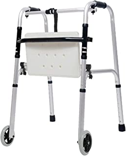 Bariatric Heavy-Duty Folding Walker with 2 Wheels for Seniors, Adults Extra Wide Front Wheel Walker, Walking Frame Lightweight, Mobility Aid for Handicap