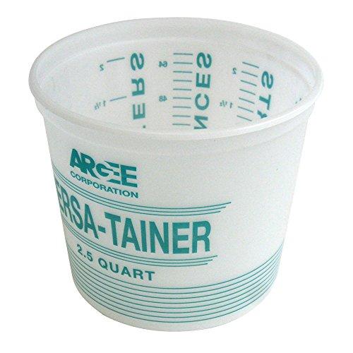 Argee RG518/12 Versa-Tainer Plastic Bucket (12 Pack), 2.5 quart, White/Teal