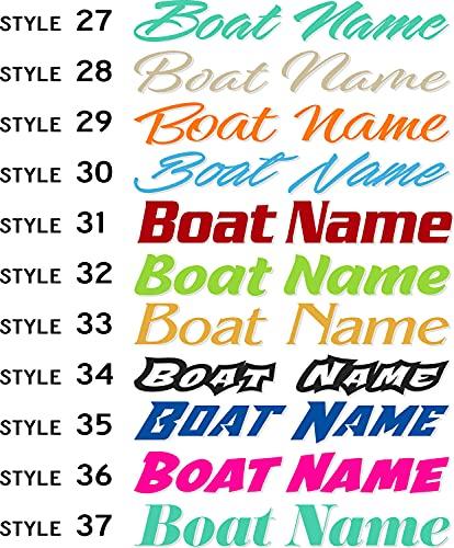 Boat Name Decal / Custom Hull Graphic / Premium Marine Vinyl Lettering