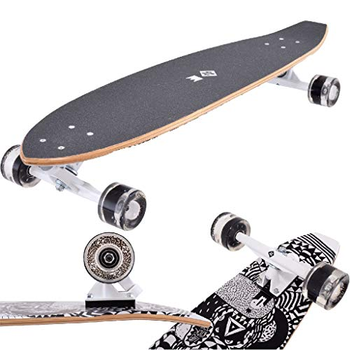 Streetsurfing None Street Surfing Rumble Kicktail Board, nero, 91 cm