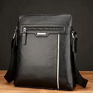 QGTAU Bags 18072 Men Business Leisure Style PU Leather Single Shoulder Bag (Black) (Color : Black)