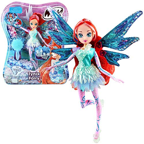 Winx Club Bloom | Tynix Fairy Puppe Fee mit magischem Gewand | Staffel 7