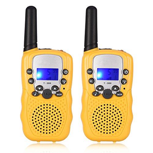 zerone Mini Kids walkie-talkies 3km multi-canali Mini Radio para niños, para actividades AL aire libre -2piezas
