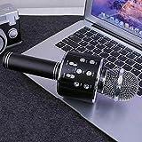 Shop-STORY - Micrófono de karaoke inalámbrico con función Bluetooth, color negro