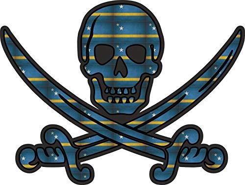 Akachafactory Sticker decal vlag jack rackham piraat CW curacao
