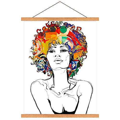 Posterleist 42cm,Magnetisch Posterschiene,Magnetisch Bilderrahmen,Magnetischer Bild Posterschiene Holz, Posterhänger für Bilder Posterrahmen Holz, für Aufhängen Wanddekoration,Foto,DIY Kunstwerk