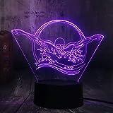 Lámpara De Ilusión 3D Natación Buzo Luz Nocturna Para Niños Niños Niñas Lámpara De Decoración De Escritorio De Mesa Led Luz Visual 3D Para Decoración De Dormitorio De Bebé Regalos De Cumpleaños Par