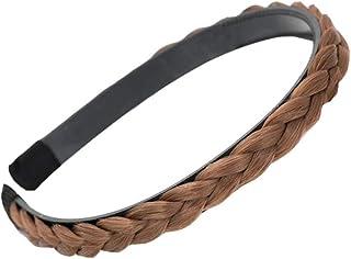 Headband Plaited Braid Hair Band Braided Hairband Braid Headband Light Brown