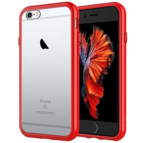 JETech Funda para iPhone 6s y iPhone 6, Carcasa Anti-Choques y Anti-Arañazos, Rojo