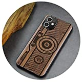 Carveit Wood Back Cover for iPhone Se 2020 7 8 Plus 12 Mini 11 Pro Max X XS XR Shockproof Shell Thin...