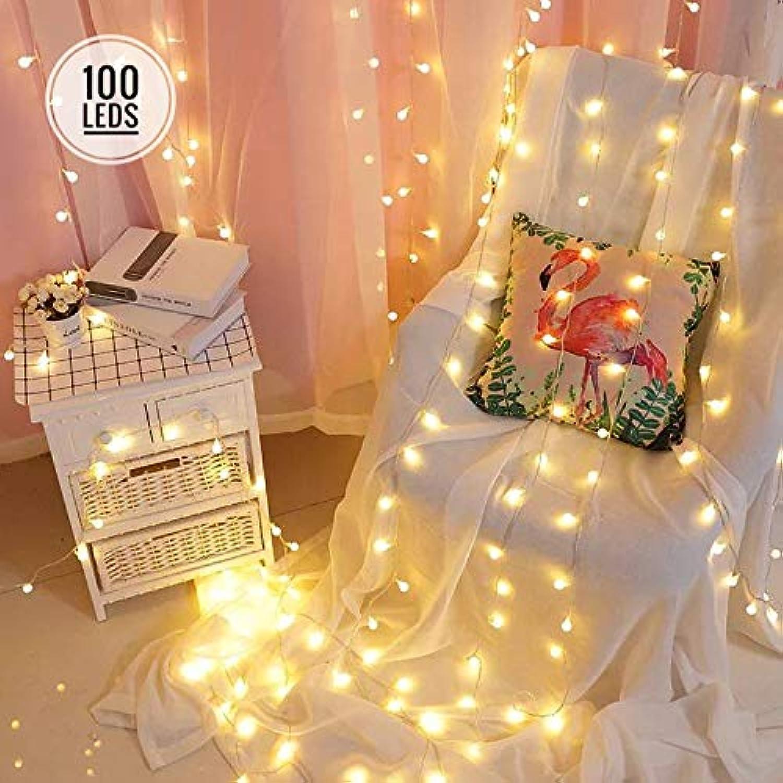 Ninight Lichterkette mit 100 LEDs, 8 Modi, wasserdicht, dekorativ, für Innen- und Auenbereich, Terrasse, Hochzeit, Party, Zuhause, Garten, Schlafzimmer, Warmwei warmwei