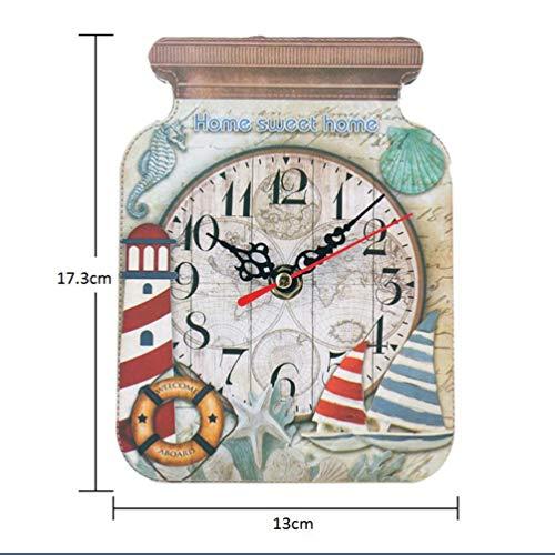 Vosarea Reloj de Pared de Madera Botella Reloj de Campo rústico para...