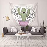 nobranded Fondo de Tapiz de Cactus Plantas suculentas del Desierto Tapices para Colgar en la Pared para el Dormitorio Sala de Estar Decoración del Dormitorio