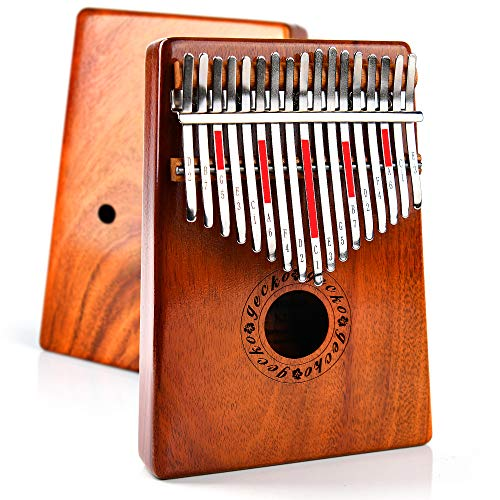 [Kalimba Music California] Premium Quality Kalimba 17 Keys Thumb/Finger Piano Waterproof hard case African wood Easy to Learn Peaceful sound Musical Instrument Music box Gift for Kids Adult Beginners