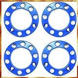 Easy Link 4 x Radbolzenabdeckung 22,5' Plastik Blau Radkappen Radzierblenden LKW