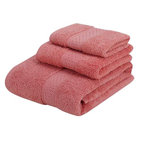 KoelrMsd 3 unids / Set Toalla de Limpieza Facial de algodón Completo hogar Hotel Uso Deportivo Toallas de baño antibacterianas absorbentes sin torsión