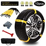 Gelma Car Snow Chains Anti Slip Emergency Tire Chains Adjustable Snow Cable Chains