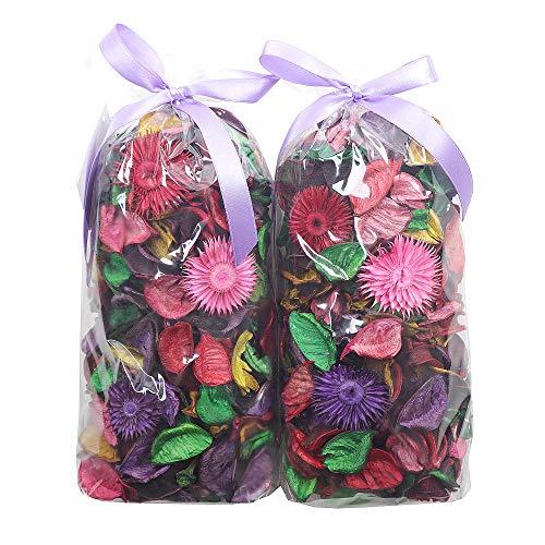 Qingbei Rina Potpourri Bag Varicolored Scented Dried Flowers Fragrance Sachet Petal Bowl and Vase Filler Home Decor,2 Bags,Suitable for Filling a 83 Fluid-Oz Bowl