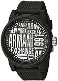 Armani Exchange Men's Silicone Strap Black 22 Casual Watch