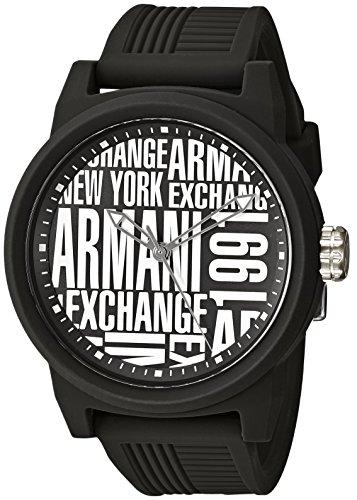 Emporio Armani Herren Analog Quarz Smart Watch Armbanduhr mit Silikon Armband AX1443