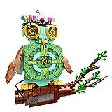 YOU339 Juego electrónico de construcción de búhos salvajes, pequeñas partículas de pájaros, ladrillos de construcción con mango de reloj, modelo MOC, juguete compatible con Lego (770 piezas)