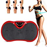 lahomie Fitness Platte,Vibrationsplatte Vibrationsplatte Ganzkörper Fitness Vibrationsplatte Sport vibrationsplatte mit Zugseil Und Fernbedienung(Rot)