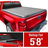 MaxMate Soft Roll Up Truck Bed Tonneau Cover Compatible with 2007-2013 Chevy Silverado/GMC Sierra 1500 | Fleetside 5'8' Bed
