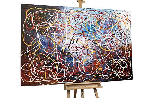 'Vorahnung' 180x120cm | Abstrakt Schwarz XXL | Modernes Kunst Ölbild