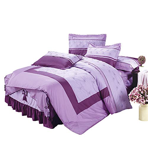 Sale!! YSYDE Quilt Cover Four Piece Bed Skirt Cotton Bedding, are Made from Cotton, in Contact with ...