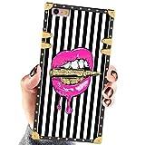 Square Case Compatible iPhone 6S Plus iPhone 6 Plus Case Pink Lips in Bullet Luxury Elegant Soft Shock Protection Case Cover Compatible iPhone 6 Plus/6S Plus 5.5 Inch