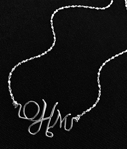 Silver Monogram Necklace, Bracelet, or Anklet~Personalized Jewelry~Sterling Silver~Any Initials~Initial Jewelry~Baby Jewelry~Custom Initial Jewelry~Custom Made~Mother's Bracelet~Children's Initials