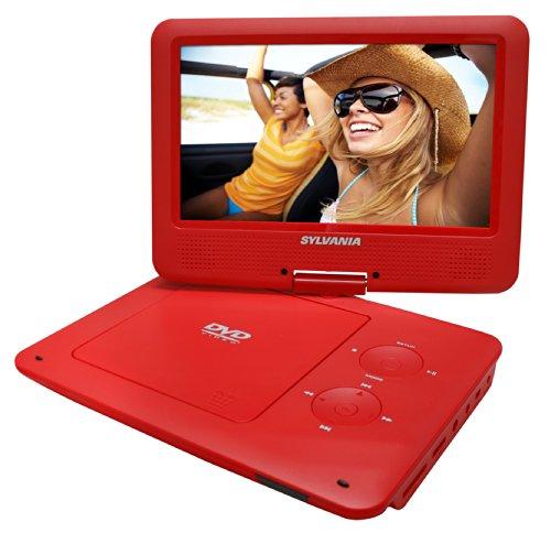 Sylvania – Reproductor de DVD y MP3 portátil con visualización giratoria de 9 Pulgadas con batería…