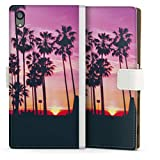 DeinDesign Étui Compatible avec Sony Xperia Z5 Premium Étui Folio Étui magnétique Palmier...