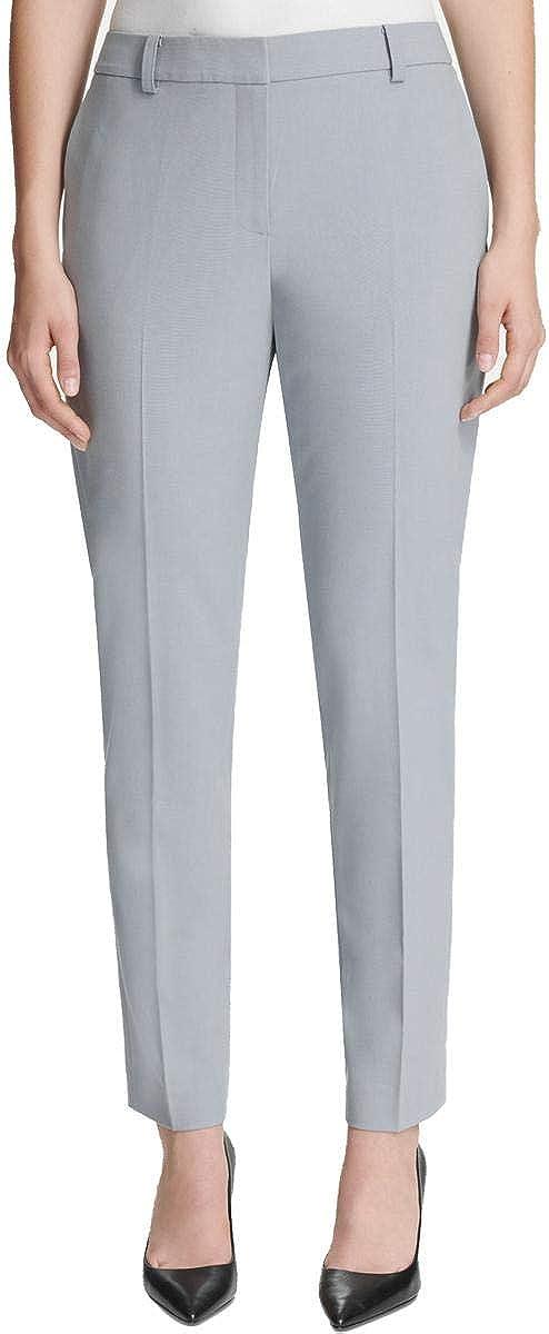 DKNY Womens Fixed-Waist Skinny Dress Pants, Blue, 4