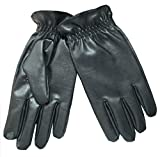 Isotoner Men's Smartouch Faux Leather Gloves,size medium