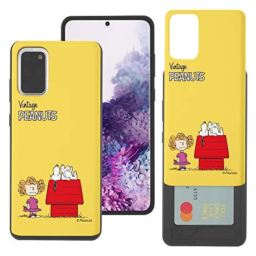 """Galaxy S20 ケース と互換性があります Peanuts Snoopy ピーナッツ スヌーピー カード スロット ダブル バンパー スマホ ケース 【 ギャラクシー S20 ケース (6.2"""") 】 (小さい スヌーピー 家) [並行輸入"""
