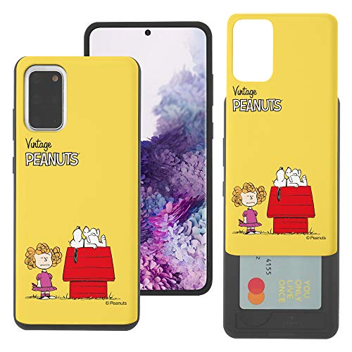 WiLLBee Galaxy S20 Ultra Case Nieuwe PEANUTS Slim Slider Cover : kaart Dual Layer Holder Bumper voor [ Galaxy S20 Ultra (6.9inch) ] Case, Kleine Snoopy Huis (Galaxy S20 Ultra)