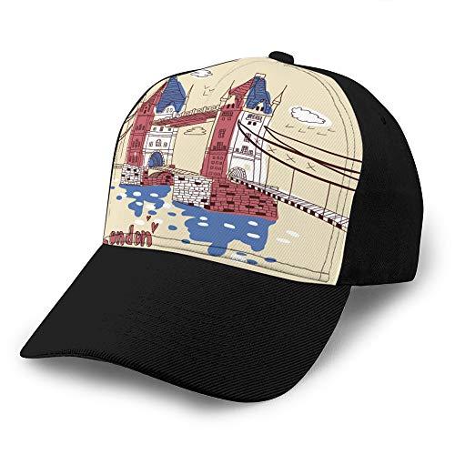 Sombrero de Malla Unisex Gorras de béisbol para Adultos Sombrero de sombrilla Gorra Snapback Big Ben y casa del parlamento Londres Reino Unido Gorras de Camionero