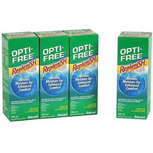 Alcon Opti-Free Replenish Kontakt Linse Lösung 4x 300ml 6Monate Supply